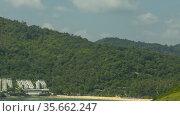 Timelapse view of a tropical island. Стоковое видео, видеограф Игорь Жоров / Фотобанк Лори