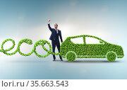 Eco friendly car powered by alternative energy. Стоковое фото, фотограф Elnur / Фотобанк Лори