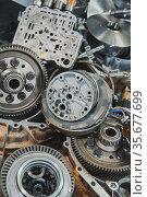 Car transmission parts and repair tool. Стоковое фото, фотограф Дмитрий Бачтуб / Фотобанк Лори