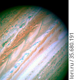 Detailed analysis of two continent-sized storms that erupted in Jupiter... Редакционное фото, агентство World History Archive / Фотобанк Лори