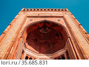 Fatehpur Sikri, Jama Masjid Mosque in India. Стоковое фото, фотограф Zoonar.com/Sanga Park / easy Fotostock / Фотобанк Лори