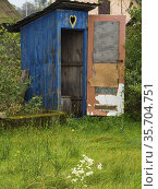 Poland. An old village outdoor lavatory. Стоковое фото, фотограф Piotr Ciesla / age Fotostock / Фотобанк Лори