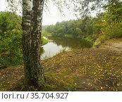 Poland. Lubelski region. River Bug (here a border river between Poland... Стоковое фото, фотограф Piotr Ciesla / age Fotostock / Фотобанк Лори