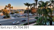 Cars from the window room of Marina del Rey Marriott Marquis hotel... Стоковое фото, фотограф Ruddy Gold / age Fotostock / Фотобанк Лори