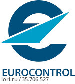 Logo of the Europaen Organization for the Safety of Air Navigation... Стоковое фото, фотограф Peter Probst / age Fotostock / Фотобанк Лори