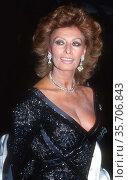 Sophia Loren 1992, Photo By John Barrett/PHOTOlink (2008 год). Редакционное фото, фотограф Photo By John Barrett/PHOTOlink / age Fotostock / Фотобанк Лори