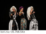 Artists during perfomance at the 'Drag Me Up – Queer Art Festival... Редакционное фото, фотограф Alessandro Serrano' / AGF/Alessandro Serrano' / / age Fotostock / Фотобанк Лори