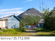The area of rescue station of the Khibins massif. It is a popular place for mountain hiking. Camping site is located in center of massif in the Kola peninsula. Хибины (2015 год). Редакционное фото, фотограф Кекяляйнен Андрей / Фотобанк Лори