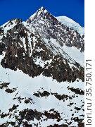 The mighty Aletschhorn in the Bernese Alps in Switzerland. A Unesco... Стоковое фото, фотограф Neil Harrison / age Fotostock / Фотобанк Лори