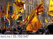 Spain. 25/03/2012. Palma,Mallorca. 50. 000 personas se manifiestan... Редакционное фото, фотограф Tolo Balaguer / age Fotostock / Фотобанк Лори
