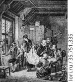 The peddler, the picturesque magazin, publisher edouard charton, 1860. (2009 год). Редакционное фото, фотограф Louis Bertrand / age Fotostock / Фотобанк Лори