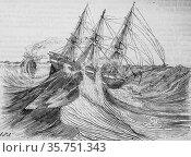 Dry sailboat of sails, the picturesque magazin, publisher edouard... (2009 год). Редакционное фото, фотограф Louis Bertrand / age Fotostock / Фотобанк Лори