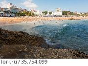 low tide on the beach of Santander. Cantabria. Spain. Стоковое фото, фотограф Татьяна Яцевич / Фотобанк Лори