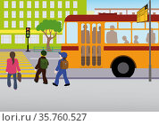 Rules of road. Стоковая иллюстрация, иллюстратор Валентина Шибеко / Фотобанк Лори