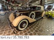 "Retro car Horch 830BL ""Glazer"", 1939 in the Vadim Zadorozhny Museum of Technology. Moscow region, Russia. Редакционное фото, фотограф Наталья Волкова / Фотобанк Лори"