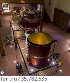 MOSCOW, RUSSIA, JUNE 17, 2017: Ancient Charente alembic (a distillation... Стоковое фото, фотограф Zoonar.com/Sergey Rybin / age Fotostock / Фотобанк Лори