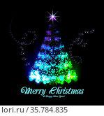 Beautiful christmas tree from light vector background. Стоковое фото, фотограф Zoonar.com/Maxim Pavlov / age Fotostock / Фотобанк Лори