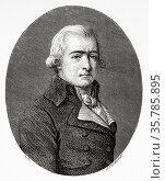 Portrait of Jean Baptiste André Amar (1755-1816) was a French lawyer... Стоковое фото, фотограф Jerónimo Alba / age Fotostock / Фотобанк Лори