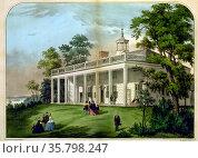 The home of Washington, Mount Vernon, Va. Редакционное фото, агентство World History Archive / Фотобанк Лори