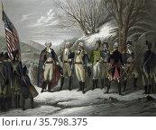 Die Helden der Revolution. General Washington standing with Johann... Редакционное фото, агентство World History Archive / Фотобанк Лори