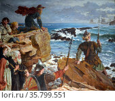 How the Danes Came up the Channel a Thousand Years Ago. Редакционное фото, агентство World History Archive / Фотобанк Лори