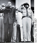 François Duvalier 1907 – 1971, also known as 'Papa Doc' Duvalier, the President of Haiti from 1957 until his death in 1971. Редакционное фото, агентство World History Archive / Фотобанк Лори
