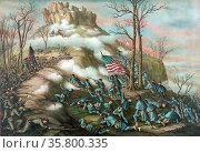 Part of the American Civil War - The Battle of Pea Ridge, Northwest... Редакционное фото, агентство World History Archive / Фотобанк Лори