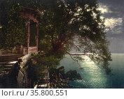 Abbazia, moonlight near the baths, Istria, Austro-Hungary. Shot between... Редакционное фото, агентство World History Archive / Фотобанк Лори