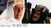 Peter O'Toole and omar Sharif in the title role of Lawrence of Arabia a 1962 film based on the life of T. E. Lawrence. Редакционное фото, агентство World History Archive / Фотобанк Лори