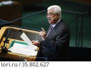 Mahmoud Abbas at UN General Assembly2012. Редакционное фото, агентство World History Archive / Фотобанк Лори