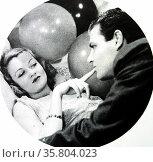 Rockabye, 1932. Constance Bennett and Joel McCrea. Редакционное фото, агентство World History Archive / Фотобанк Лори