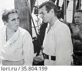 Mutiny on the Bounty', 1935. This sweeping sea story founded on fact had the bite of veracity in its handling of both ships and men. Charles Laughton's Captain Bligh became one of the legendary villains of the 20th century. Редакционное фото, агентство World History Archive / Фотобанк Лори