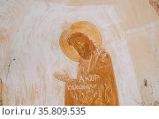 Sagarejo Municipality, Kakheti region, Georgia. Ancient Frescoes In... Стоковое фото, фотограф Ryhor Bruyeu / easy Fotostock / Фотобанк Лори