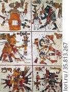 Codex Borgia (Codex Yoalli Ehecatl) Редакционное фото, агентство World History Archive / Фотобанк Лори