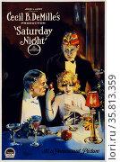 Film poster for 'Saturday Night' Редакционное фото, агентство World History Archive / Фотобанк Лори