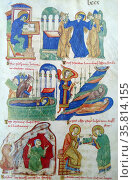 Manuscript from the Life of St Benedict. Редакционное фото, агентство World History Archive / Фотобанк Лори