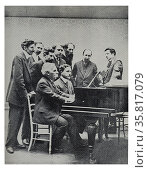Founding committee of the Société musicale indépendente 1909. Редакционное фото, агентство World History Archive / Фотобанк Лори