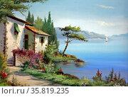House on Lake Garda, Italy by Bonelli. Редакционное фото, агентство World History Archive / Фотобанк Лори