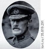 Photograph portrait of General Sir Ian Standish Monteith Hamilton. Редакционное фото, агентство World History Archive / Фотобанк Лори