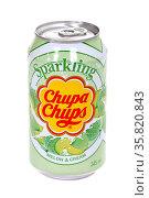 Sparkling Chupa-Chups Melon & Cream. Редакционное фото, фотограф Art Konovalov / Фотобанк Лори