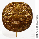 Double Crocodile Gold Disc 1876 A.D. Редакционное фото, агентство World History Archive / Фотобанк Лори