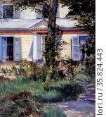 Edouard Manet 'The house at rueil'. Редакционное фото, агентство World History Archive / Фотобанк Лори