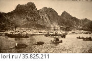 Landing site of Japanese and British forces in the bay of Lao-Chan. Редакционное фото, агентство World History Archive / Фотобанк Лори