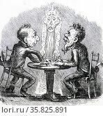 Cartoon supporting the conviction of a medium. Редакционное фото, агентство World History Archive / Фотобанк Лори