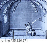 Douche treatment room. Aachen (Aix), the famous spa town, known to the Romans as Aquisgranum. . Редакционное фото, агентство World History Archive / Фотобанк Лори