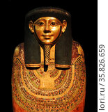 Lid of the Outer Coffin of Hornedjitef 246 B.C. Egypt . Редакционное фото, агентство World History Archive / Фотобанк Лори