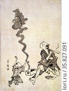 Toba-e correspondence of a Chinese sage. By Utagawa. Редакционное фото, агентство World History Archive / Фотобанк Лори