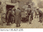 When an owner drives painted by Walter Clark, 1876-1906, American artist. Редакционное фото, агентство World History Archive / Фотобанк Лори