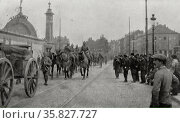 August 20, 19140101, after the afternoon German infantry entered the Belgian capital, Brussels. Редакционное фото, агентство World History Archive / Фотобанк Лори