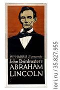 Wm. Harris, Jr. presents John Drinkwater's Abraham Lincoln 1900. Редакционное фото, агентство World History Archive / Фотобанк Лори